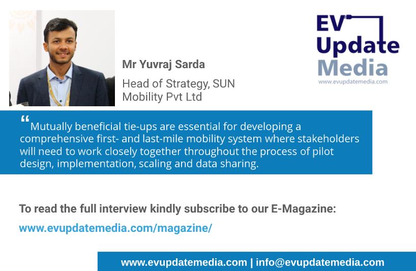 Mr Yuvraj Sarda - Head of Strategy, SUN Mobility Pvt Ltd (flyer)