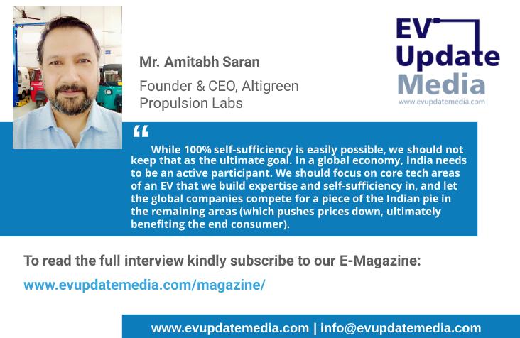 Mr. Amitabh Saran - Founder & CEO, Altigreen Propulsion Labs (Flyer)
