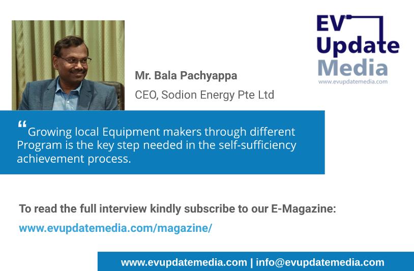 Mr. Bala Pachyappa - CEO, Sodion Energy Pte Ltd (Flyer)