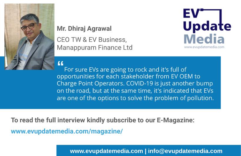 Mr. Dhiraj Agrawal - CEO TW & EV business , Manappuram Finance Ltd (Flyer)
