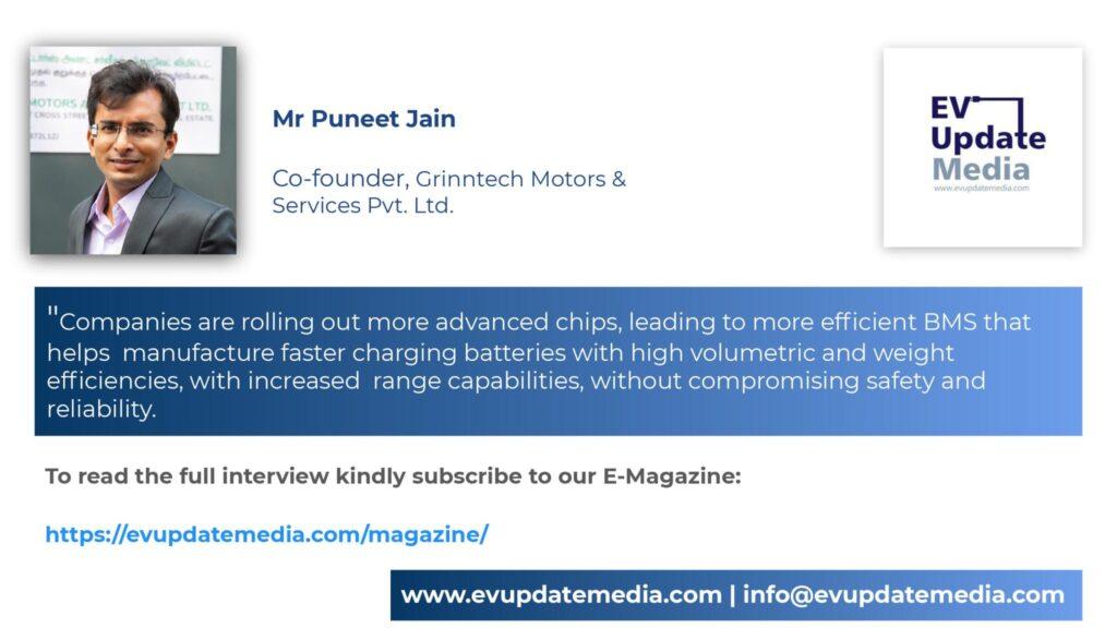 Mr. Puneet Jain-Co-Founder, Grinntech Motors & Services Pvt Ltd
