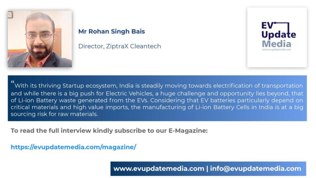 Mr. Rohan Singh Bais-Director, Ziptrax Cleantech