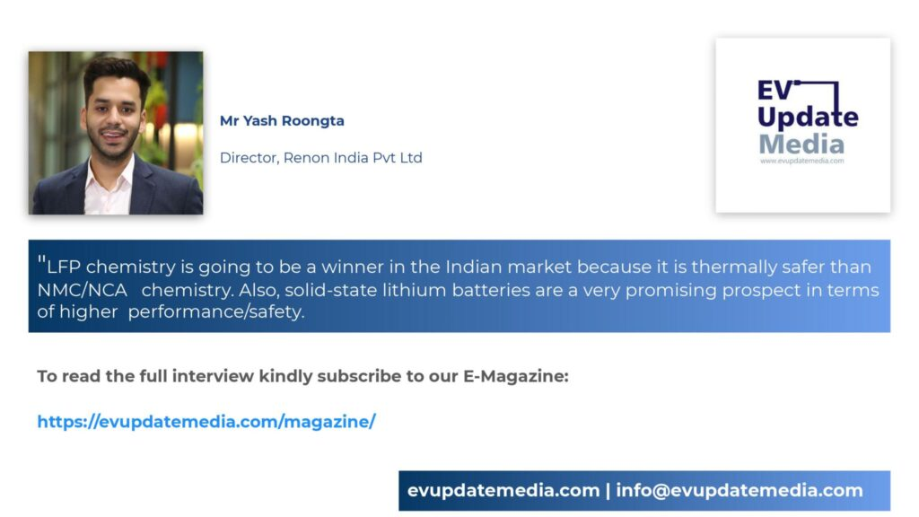 Mr. Yash Roongta-Director, Renon India Pvt Ltd
